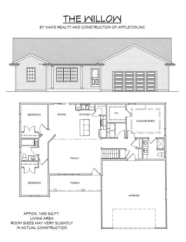 Floor Plan | Van's Realty & Construction on